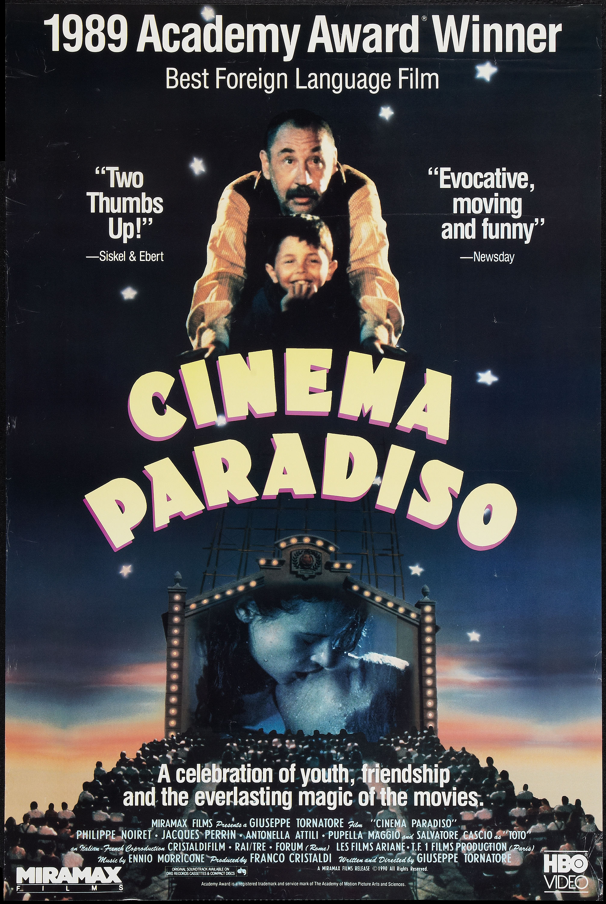an analysis of the giuseppe tornatores film nuovo cinema paradiso Tornatore, best known for his 1988 cinema paradiso, which took home the oscar for best foreign language film, was accused by former tv starlet miriana trevisan of fondling and kissing her in his office 20 years ago.